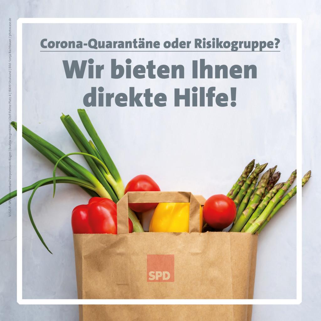 SPD kachel einkaufshilfe